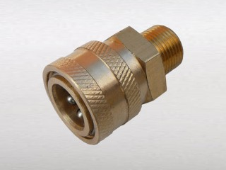 "3/8"" Male Thread to 3/8"" Female Quick Connector (A)"