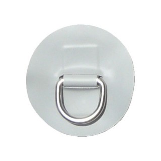"Small ""D"" Ring with Light Grey PVC"