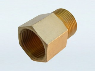 22mm Female Thread to 22mm Male Thread  with 14mm Bore (P)