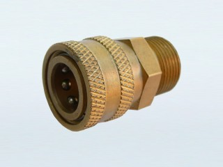 "22mm Male Thread with 15mm Bore to 3/8"" Female Quick Connector (S)"