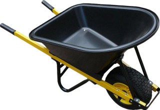 Wheelbarrow 100L Poly Tray - Wide No Flat Wheel