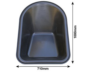 Replacement 100L Poly Wheelbarrow Tub