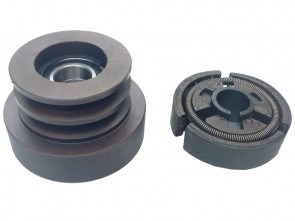 80mm Twin Belt Pulley with built in Centrifugal Clutch (25mm Bore)