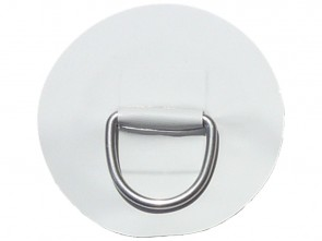 "Large ""D"" Ring on Light Grey PVC Patch"