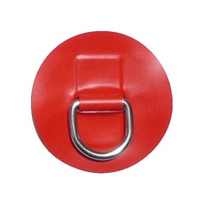 "Small ""D"" Ring with Red PVC"
