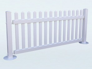 PVC Temporary Picket Fencing