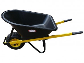 Wheelbarrow 100L Poly Tray - Wide Wheel