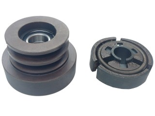 "80mm Twin Belt A-Type Pulley with built in Centrifugal Clutch (1"" Bore)"