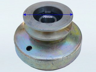 70mm Twin Belt Pulley with built in Centrifugal Clutch (19mm Bore)