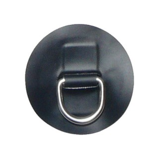 """Small """"D"""" Ring on Black PVC Patch"""