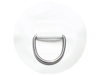 """Small """"D"""" Ring on White PVC Patch"""