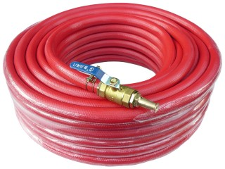 "Maxi-Pro 30m Red Kink Free Heavy Duty 3/4"" (19mm) Water Hose with Nozzle"