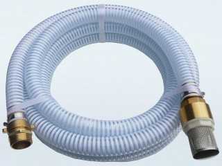 "1"" Suction Hose Kit with Foot Valve / Strainer and Brass Threaded Fitting - 5m Length"