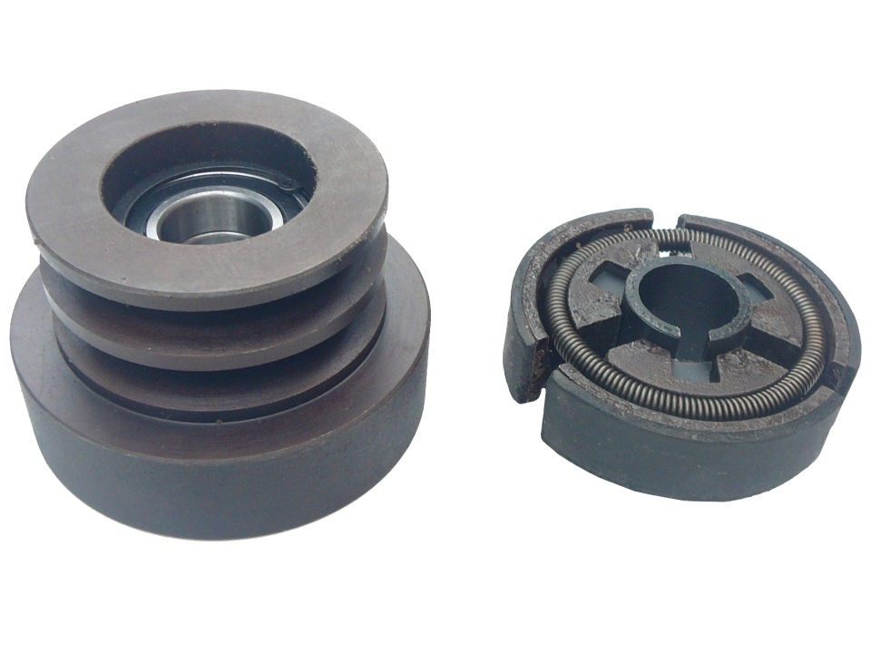 80mm Twin Belt A Type Pulley With Built In Centrifugal Clutch 1 Quot Bore