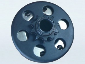 10 Tooth Sprocket with built in Centrifugal Clutch (19mm Bore, #420 Pitch)