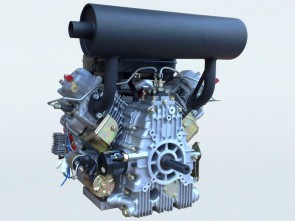 27hp V-Twin Electric Start Diesel Engine