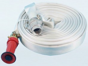 "30m 1.5"" Canvas Hose with Camlocks and 1.5"" Fire Nozzle"