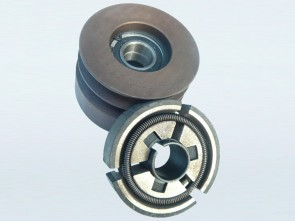 """100mm Twin Belt A-Type Pulley with built in Centrifugal Clutch (1"""" Bore)"""