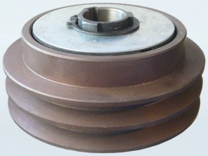 """5"""" (127mm) Twin Belt Pulley with built in Centrifugal Clutch (1"""" Bore)"""