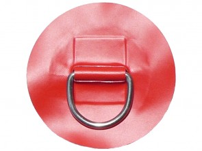 "Large ""D"" Ring on Red PVC Patch"