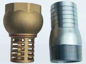 "2"" (50mm) Brass Foot Valve with Male Hose tail Connector"