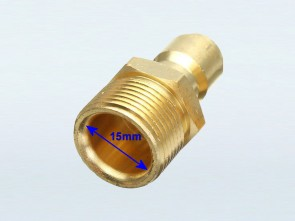 "22mm Male Thread with 15mm Bore to 3/8"" Male Quick Connector (W)"